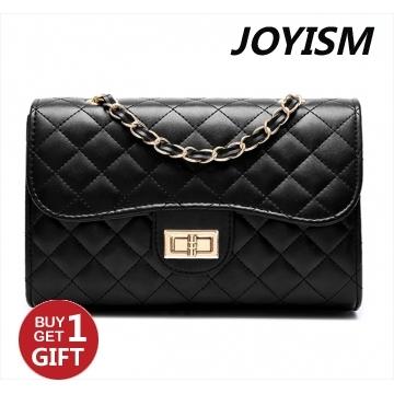 Joyism The Classic and Grace Single Shoulder Handbag .Black one size black f