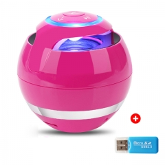 Bluetooth Mini Speaker Receiver Boombox FM Radio Portable Caixa De Som Amplifier MP3 Subwoofer Red 5V 78*78*78mm
