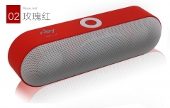 New NBY-18 Mini Bluetooth Speaker Portable Wireless 3D Stereo Music Surround Support Bluetooth red 5v 190mm*55mm*60m
