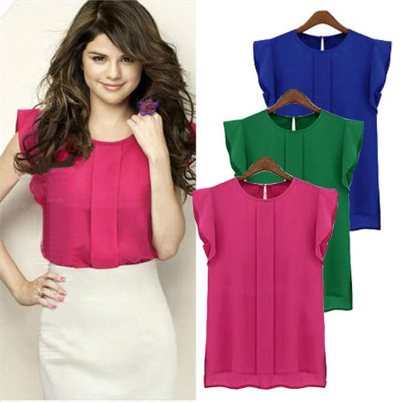 a34c58e24403b7 Fashion Women s Casual Loose Sleeveless Chiffon Vest Tank T Shirt ...