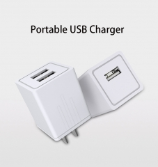 Mobile phone charger   Dual USB fast Charger 2.1A intelligent General chargerHQ100391 white one size