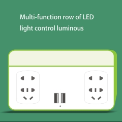 Multifunction Row led Light Control Luminous Usb Phone Charger green one size