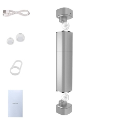 cylinder wireless Bluetooth  headset  Ears mini movement stereo Earplugs Long standby silver