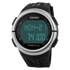 Fashion Trend Waterproof digital Watch Personality Step Heart rate Movement  Digital Watch black one size