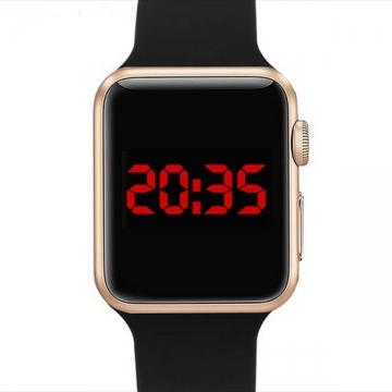 Smart Watch LED Digital Bracelet Watch Sport Strap Wristwatch for Men Women Gold+Black