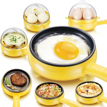 220V Electric Egg Boiler Streamed Egg Custard/Omelet Machine Egg Steamer Egg Frying Machine-Yellow