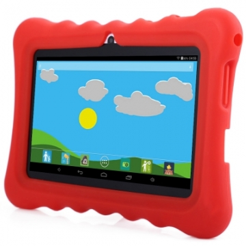 GBtiger L701 7.0 inch Android 4.4 Kids Tablet PC Quad Core 1.3GHz 512MB RAM 8GB ROM WiFi Bluetooth red