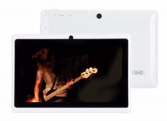 Android 4.4 OS Quad Core 7 inch Tablet Tablets  WIFI Bluetooth MID Dual Cameras Run Fast white