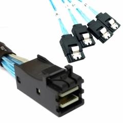 CHENYANG Internal Mini SAS SFF-8643 Host to 4 SATA 7pin Target Hard Disk 6Gbps Data Server Raid Cable 50cm CHENYANG CY