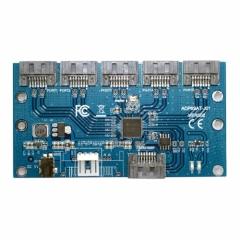 CHENYANG SATA 1 to 5 Hub PM Router Port Multiplier Riser Card Splitter Storage Adapter JMB321 chipset CHENYANG CY