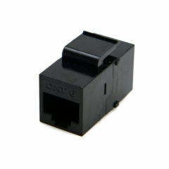 CHENYANG UTP CAT6 Keystone Coupler RJ45 Female to Female UTP CAT6 Keystone inline Coupler Black