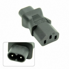 CHENYANG IEC 320 C13 to IEC C8, IEC 3Pin female to 2Pin male power adapter,C8 male to C13