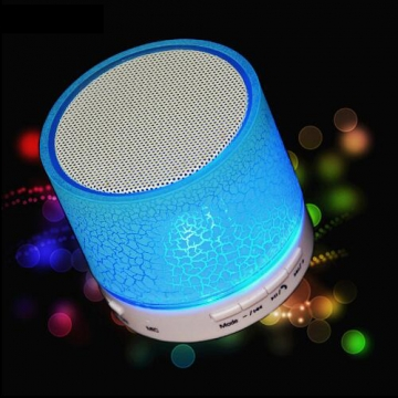 LED MINI Wireless Bluetooth Speaker TF USB Portable Music Sound Box Subwoofer Loudspeakers blue one size