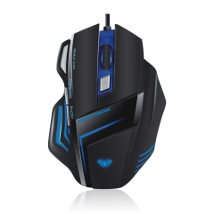 AULA GHOST SHARK Optical Wired 7 Colors Backlight Gaming Mouse (Black)