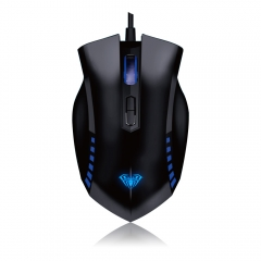 AULA MANUM Gaming Mouse 7 Colors Breath Light