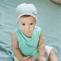 Warm Cotton Newborn Baby Girls Hat Cartoon Kitty Baby Boy Caps Cute Boys Girls Accessories One Size Gray one size