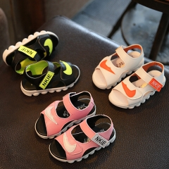 Fashion Pink PU Leather Children's Shoes Soft Bottom Baby Girl Sandals Open Toe Baby Boy Shoes pink 21