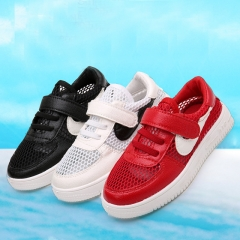 Fahison Nike Athletic Casual Board Shoes White Boy Sports Shoes Breathable Mesh Surface Girl Sneaker red 26