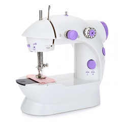 Mini Sewing Machine Double Speed Automatic Thread with Light Purple UK Plug