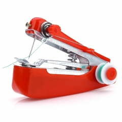 Portable Cordless Mini Hand-held Clothes Fabrics Sewing Machine Red One Size