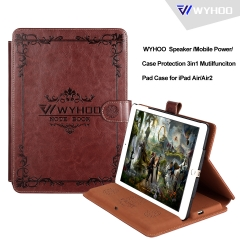 WYHOO  Speaker/Mobile Power/Case Protection 3in1 Mutilfunciton Pad Case for iPad Air/Air2