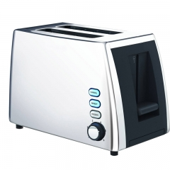 Modern Living Multi-function stainless steel toaster with extra wide slots 2 slice  baking toaster