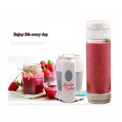 0.5L Shake N Take Juice Machine Multifunctional Mini Electricity Juicer Pocket Sports Bottle Blender White and Grey
