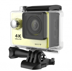 4K wifi Ultra HD 1080p 60fps 170D Go waterproof mini cam pro sports camera gopro hero 4 style Yellow As picture