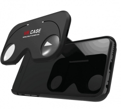 """Golden 3D VR Glasses Case Portable Virtual Reality Lens Cover for 4.7""""~ 5.5""""Smartphone"""