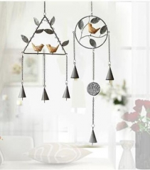 Wind-bell Decoration 2 Sets Metal Handicraft Grey As picture