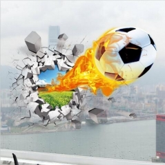 3d wall stickers hot sale soccer ball football Vinyl Wall Decal stickers White As picture