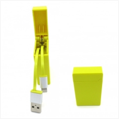 Retractable Lighter Shape Charging and Data Sync USB Data Cable for iPhone 5s/6/6s/6 plus/6s plus Yellow