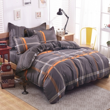 Bedroom Sets 100%Polyester 4pcs Duvet Cover Sheet Bed Linen Bedclothes Pillowcase size 6*6 Gentleman 4*6