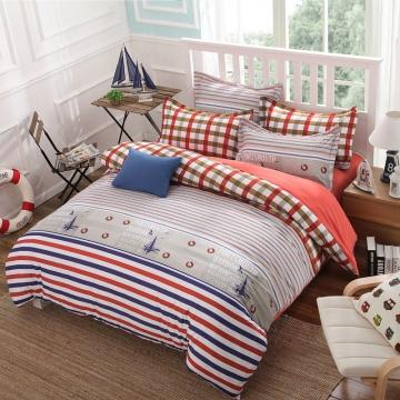 summer bedding set 4pcs duvet cover sheet bed linen bedclothes pillowcase sailing 46
