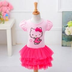 Kids Girl Clothes Tutu Dress fuchsia 90