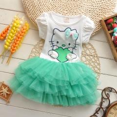 Tutu Girl Dress Hot Sale Skirt For 2-10 Yrs Old Green 90