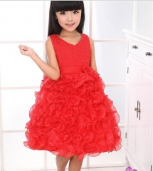 Baby Fashion Dress Party Gown red 90