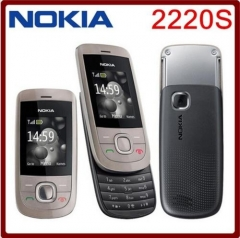 Cheap Nokia 2220S Slide Graphite Unlocked Camera easy to use Mobile Phone black