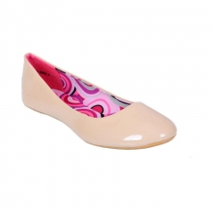 Patent Leather Ballerina Flat Beige 7