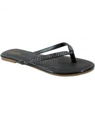 Patent Leather Ballerina Slippers - Black 3