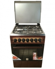 MIKA MST55PI31DB/HC 3 Gas Burner & 1 Electric Hot Plate with Oven & Grill - Brown