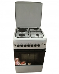 MIKA MST55PI31SL/HC 3 Gas Burner & 1 Electric Hot Plate with Oven & Grill - White
