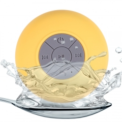 BTS - 06 Water Resistant Shower Bluetooth Speaker with Sucker Support Hands-free Calls Function​ Yellow 6W One size