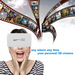 Excelvan 3D Virtual Reality Glasses Adjustable Headband VR BOX 3D Movies Game Glasses White None One size