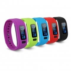 Bluetooth V4.0 Sports Smart Watch Bracelet Wrist Calorie Alarm for Android IOS Black One size