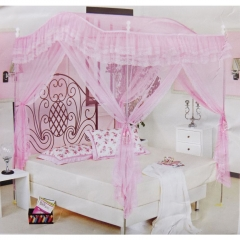 Classical 6*6 Top Curved Mosquito Pole Net - Pink