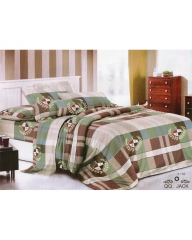 Classical Cotton Checkered Duvet with 2 Pillow Cases & 1 Bed Sheet - Multicolour 6*6