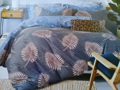 Classical Cotton Patterned Duvet with 2 Pillow Cases & 1 Bed Sheet blue 6*6