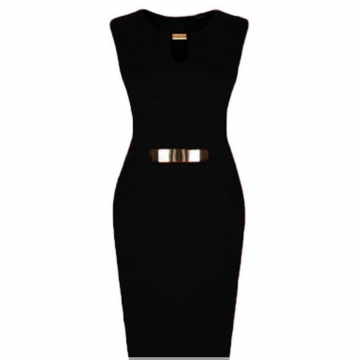 Julie Sleeveless Bodycon Dress - Black L