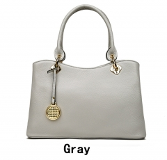 Women's Shoulder Bag Leather Designer Handbags High Quality Female Bag Real Leather Ladies Bags grey one size